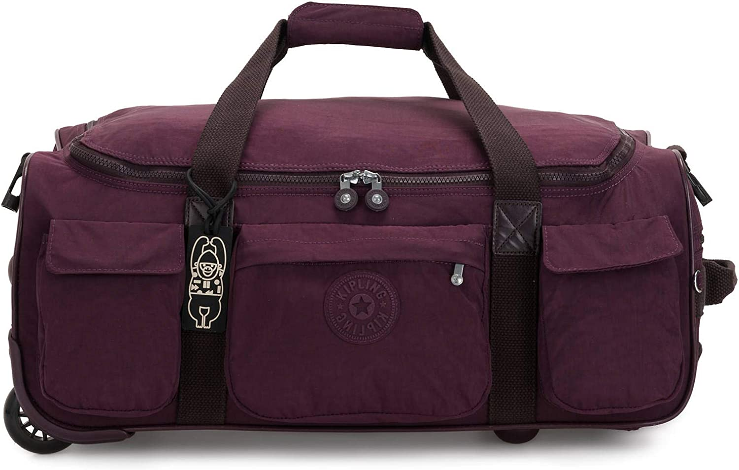 Kipling Women's Discover Small Carry-On Rolling Duffle, Dark Plum, One Size
