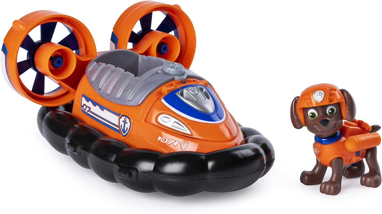 Paw Patrol 6053380 Hovercraft trasformante Zuma per bambini dai 3 anni in su con gancio apribile multicolore