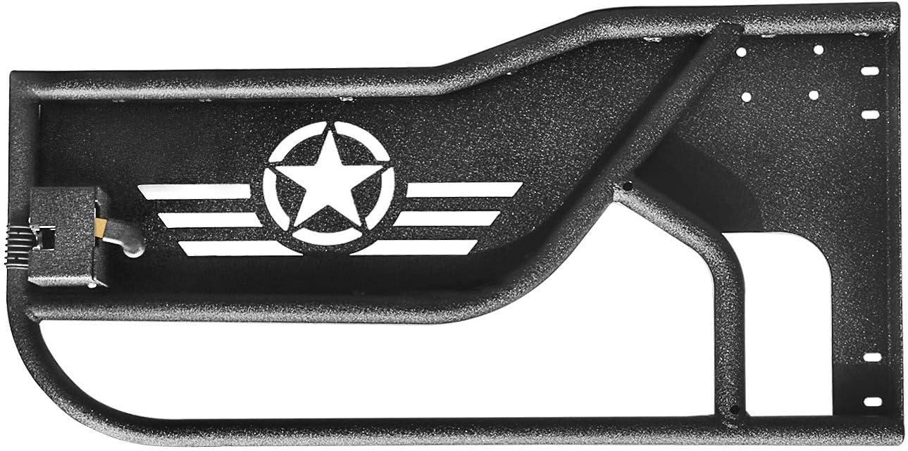 Sporthfish Front /& Rear Tubular Door Off Road Replacement Half Tube Door for 2007~2018 Jeep Wrangler JK Unlimited 4 Doors Five Star Logo