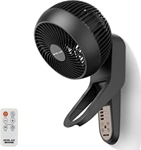 OPOLAR 2021 Whole Room Wall Mount Fan, Air Circulator Fan with Remote Control, Timer, 360° Oscillation, 3 Speed Settings, Adjustable Tilt, Wall Fan for Bedroom Home Hotel Restaurant Office