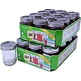 Ball Mason Jars - Regular Mouth - Can or Freeze - 8oz Half Pint - 24 Jars