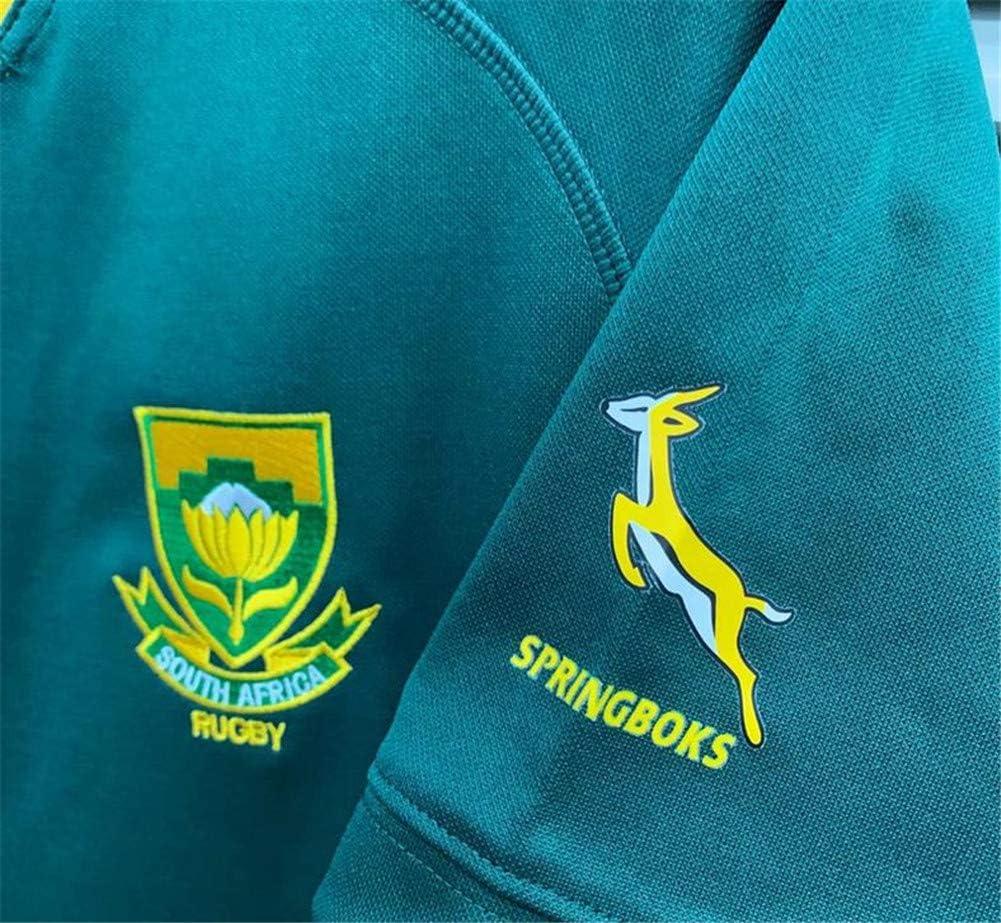 CLST Maglia Team Sudafrica Sudafrica Campione del Mondo di Rugby 2019 T-Shirt Sportiva Traspirante Home//Away