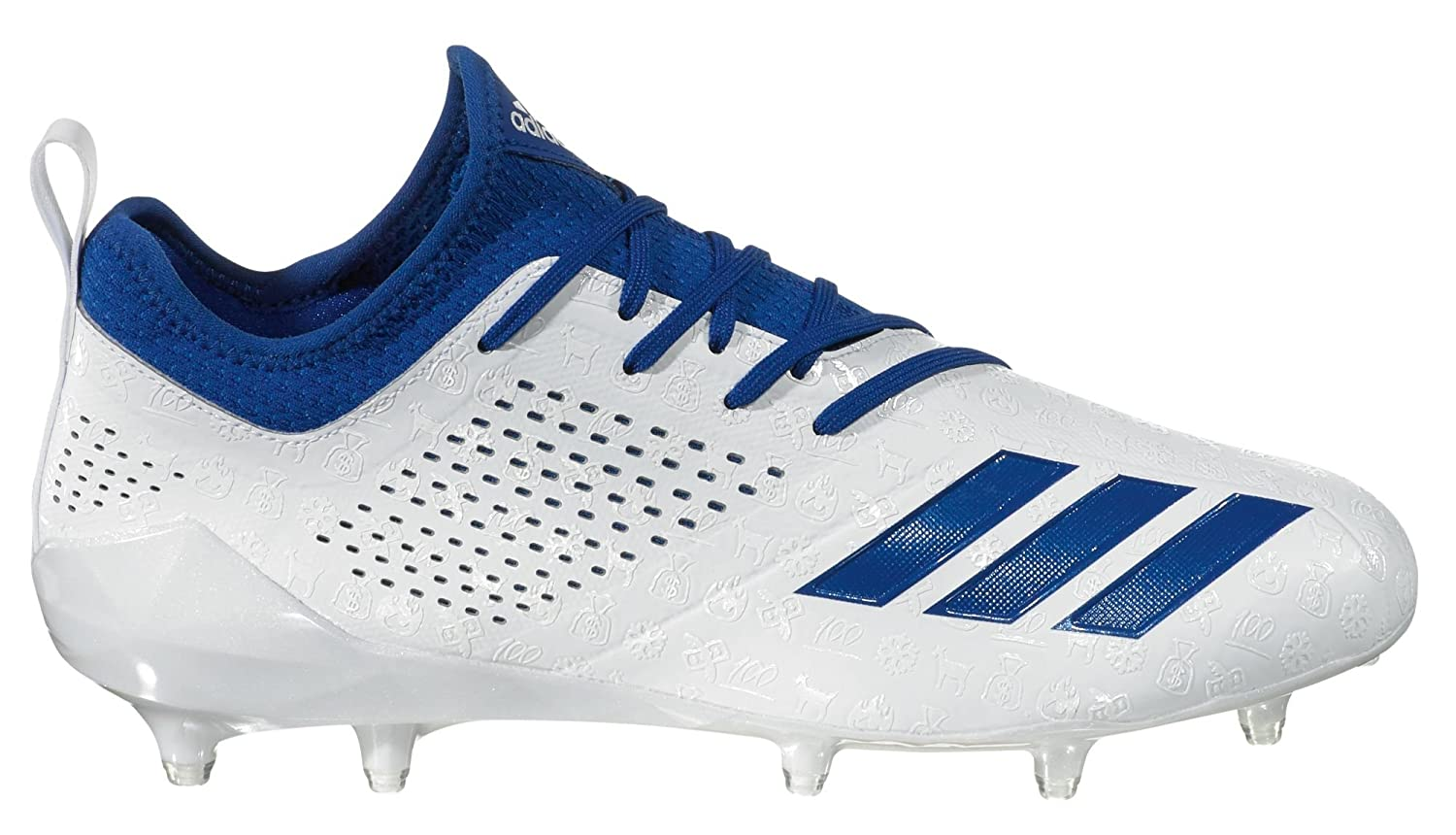 White bluee adidas Men's Adizero 5-Star 7.0 adiMoji Pack Football Cleats