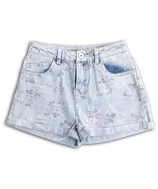 Bershka Pantalón Corto para Dama en Color Azul Claro con ...
