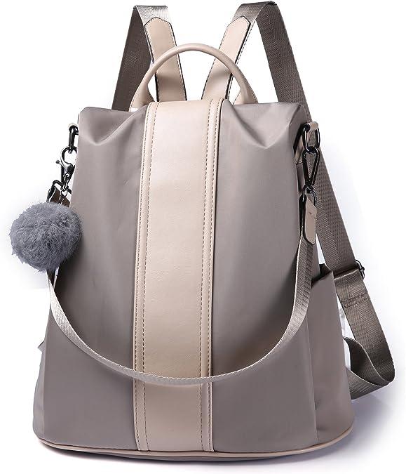 Women Backpack Purse Waterproof Nylon Anti-theft Rucksack