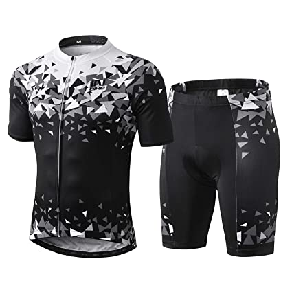 a935a23d8 INBIKE Men Cycling Jersey Set Short Sleeve Breathable Bike Shirt with Padded  Shorts G05 2XL (