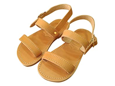 256ca52787ac Ancient Greek Style Genuine Leather Sandals Aesop Toddler Baby Roman  Spartan Shoes Kids Gladiator Girls Boys