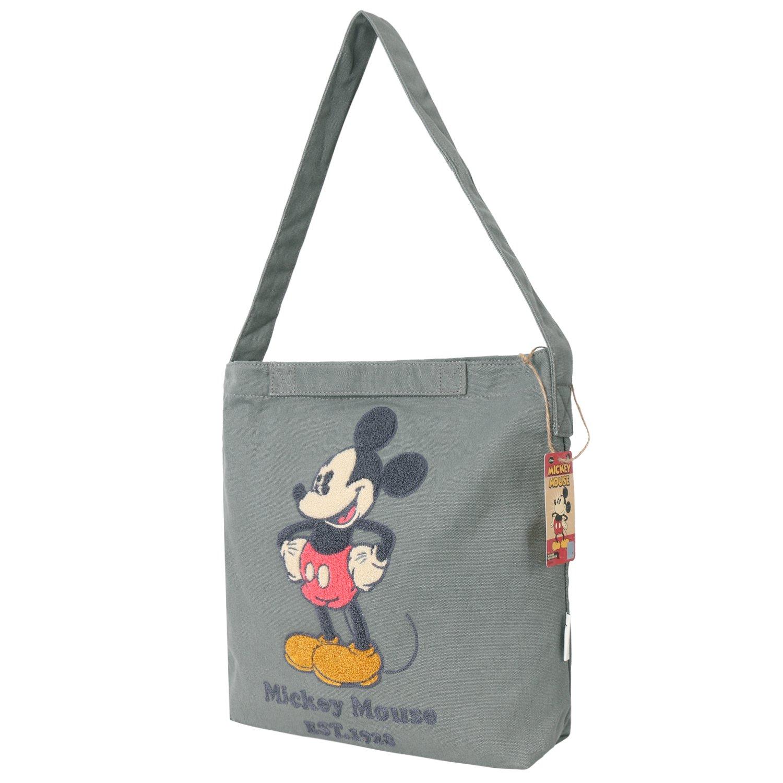 Disney Vintage Mickey Mouse Logo Canvas Eco Shoulder Bag Shopper Tote