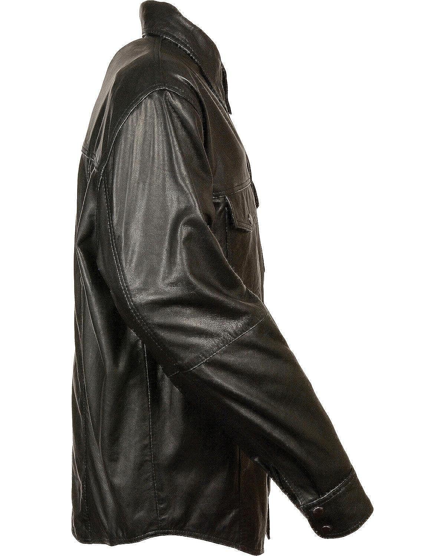 Lkm1600-Black-3X Milwaukee Leather Mens Lightweight Shirt Big and Tall