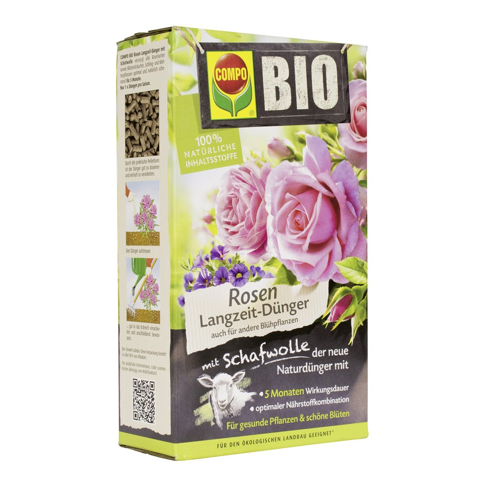 Compo 20292 Organic Rose of Slow-Release fertiliser with wool, 2 kg