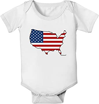 TooLoud United States Cutout American Flag Design Baby Romper Bodysuit