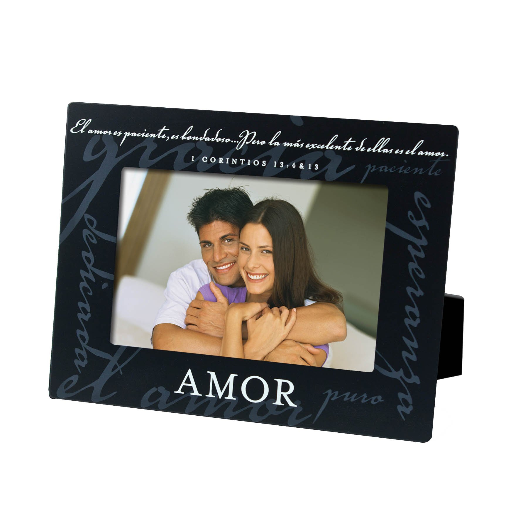 Lighthouse Christian Products Spanish Amor Love Metal Frame, 4 x 6'', Black
