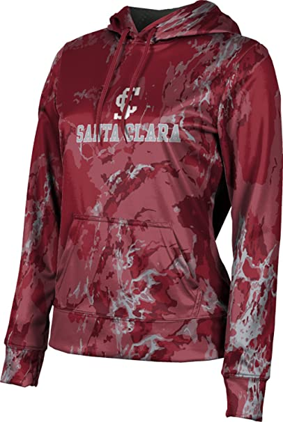 School Spirit Sweatshirt ProSphere Santa Clara University Girls Pullover Hoodie Marble