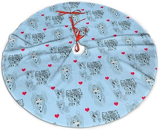 WU4FAAR Falda para árbol de Navidad, Azul Chino, para árbol de ...