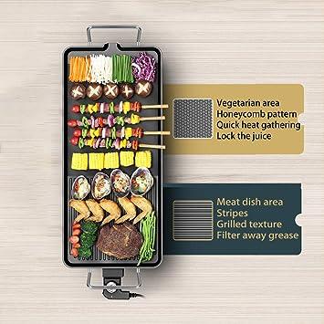 JKLJKL Grill électrique Accueil Utilisation Smokeless