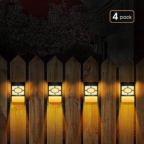 1* Solar Powered Garden Lights Post Patio Outdoor Led Lighting Waterproof LED