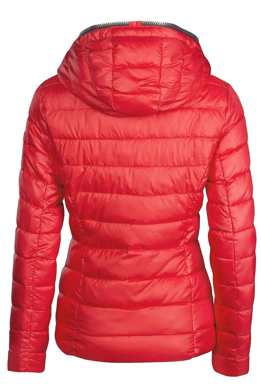 SWest Damen Winterjacke GEFÜTTERT STEPP DAUNEN Optik Kapuze Skijacke WARM 6f187cf31e