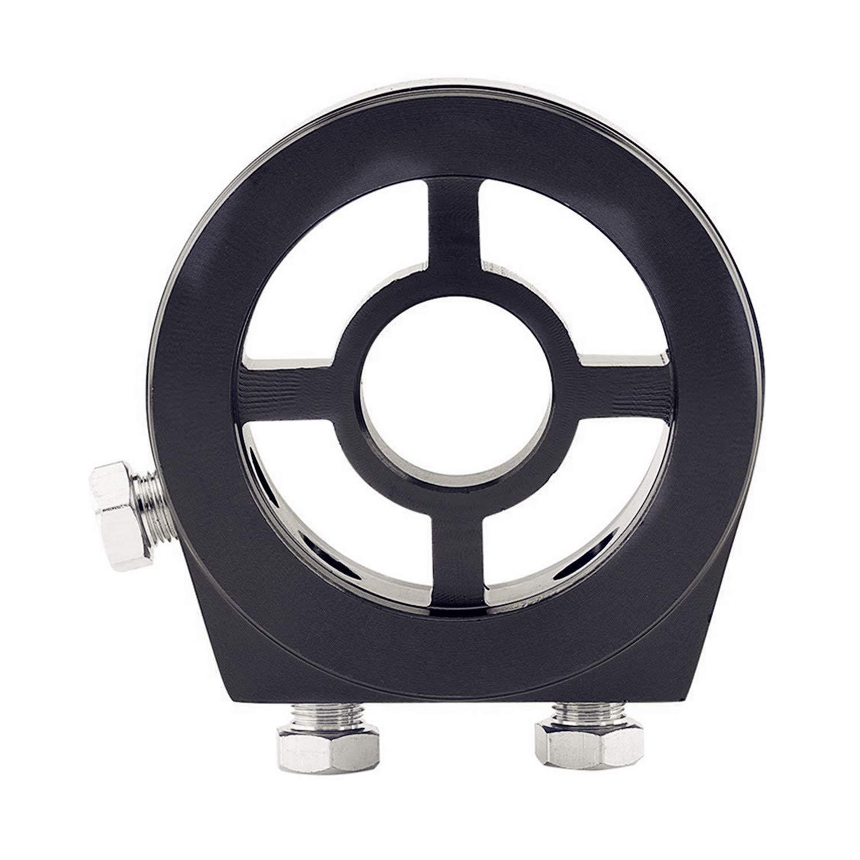 Giallo adattatore universale in alluminio per la misurazione della pressione dellolio Kit filtro per sistema di raffreddamento JDM con 4 viti Adattatore per filtro olio