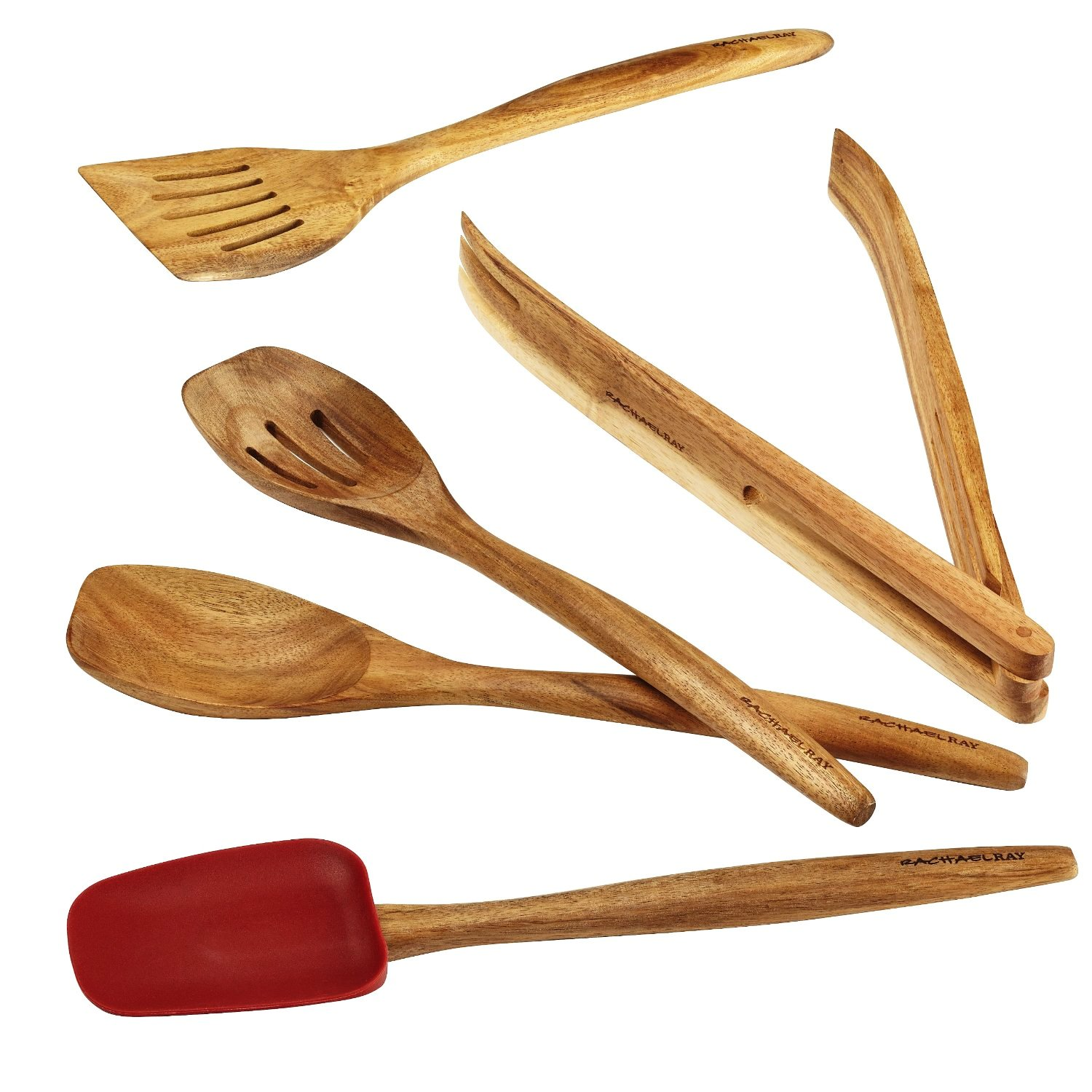 Rachael Ray Cucina Tools 5-Piece Wooden Tool Set, Red by Rachael Ray
