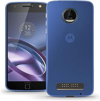 TBOC® Funda de Gel TPU Azul para Motorola Moto Z Play XT1625 (5.5 ...