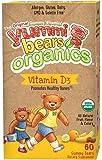 Yummi Bears Organics Vegetarian Vitamin-D Supplement for Kids, Gummy Bears, 60 Count