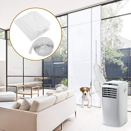 Becoyou Kit Ventana Aire Acondicionado portatil, Cubierta Aislante para Aire Acondicionado Portátiles y Secadoras. Adecuado para Aire Acondicionado Portátil, Parada de Aire Caliente 210 * 90CM: Amazon.es: Hogar