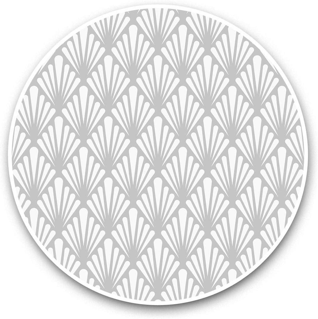 Vinyl Stickers (Set of 2) 15cm Black & White - Floral Art Nouveau Deco Retro Laptop Luggage Tablet #42880