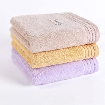 WLM 3 Toallas Suaves absorbentes de Algodón para el hogar, Toalla limpiadora Facial para Adultos