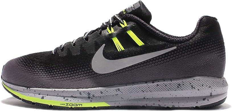 Nike Men's Air Zoom Structure 20 Shield, BlackMetallic Silver Dark Grey, 15 M US