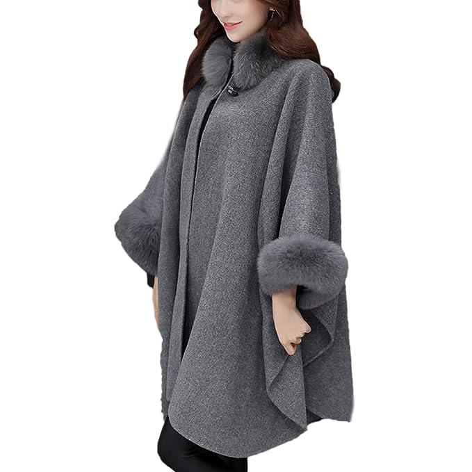 best sale new style first look Desshok Cappotto di Lana Parka con Cappuccio Cappotto ...
