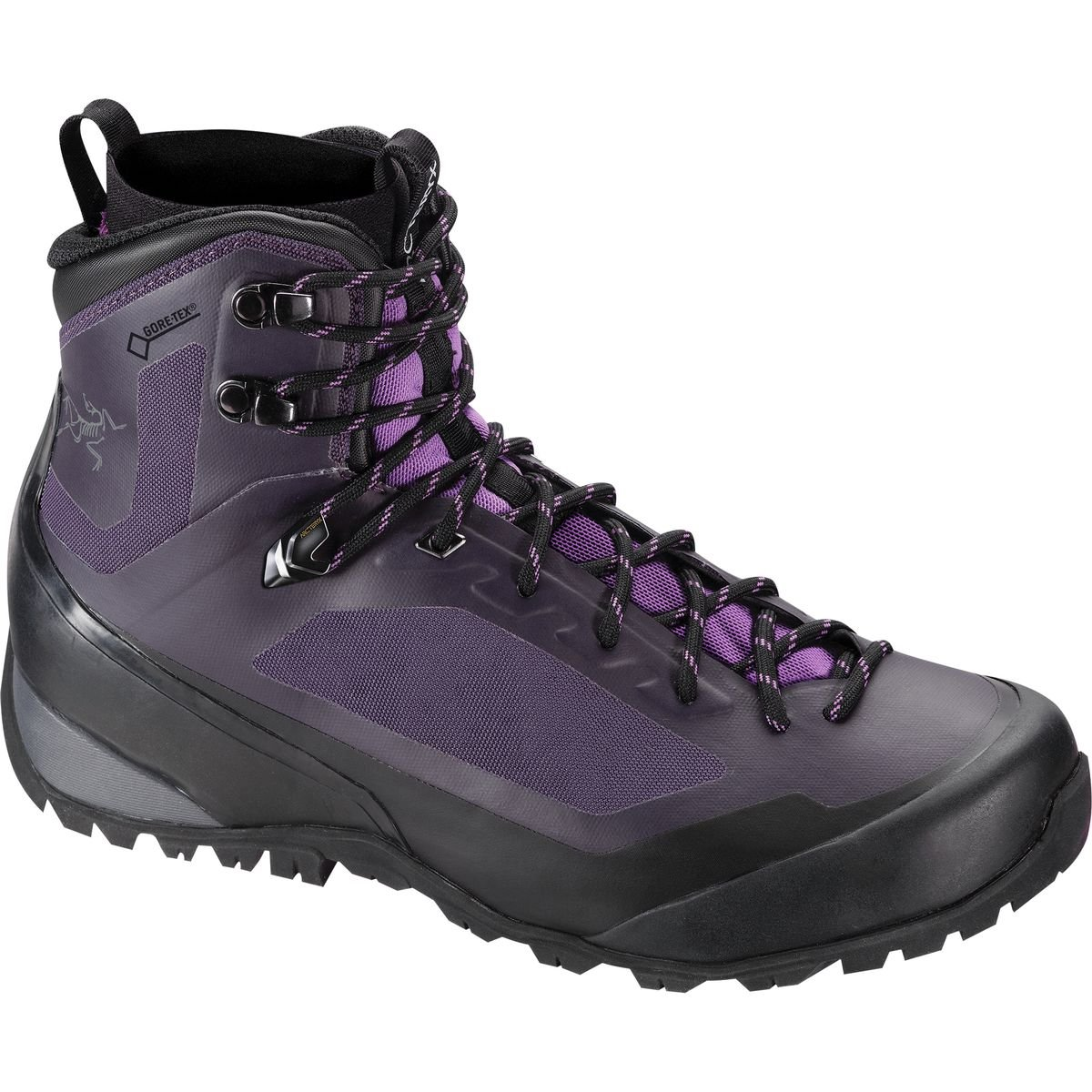 Arcteryx Bora Mid GTX Hiking Boot - Women's Black / Mid Seaspray 8 US