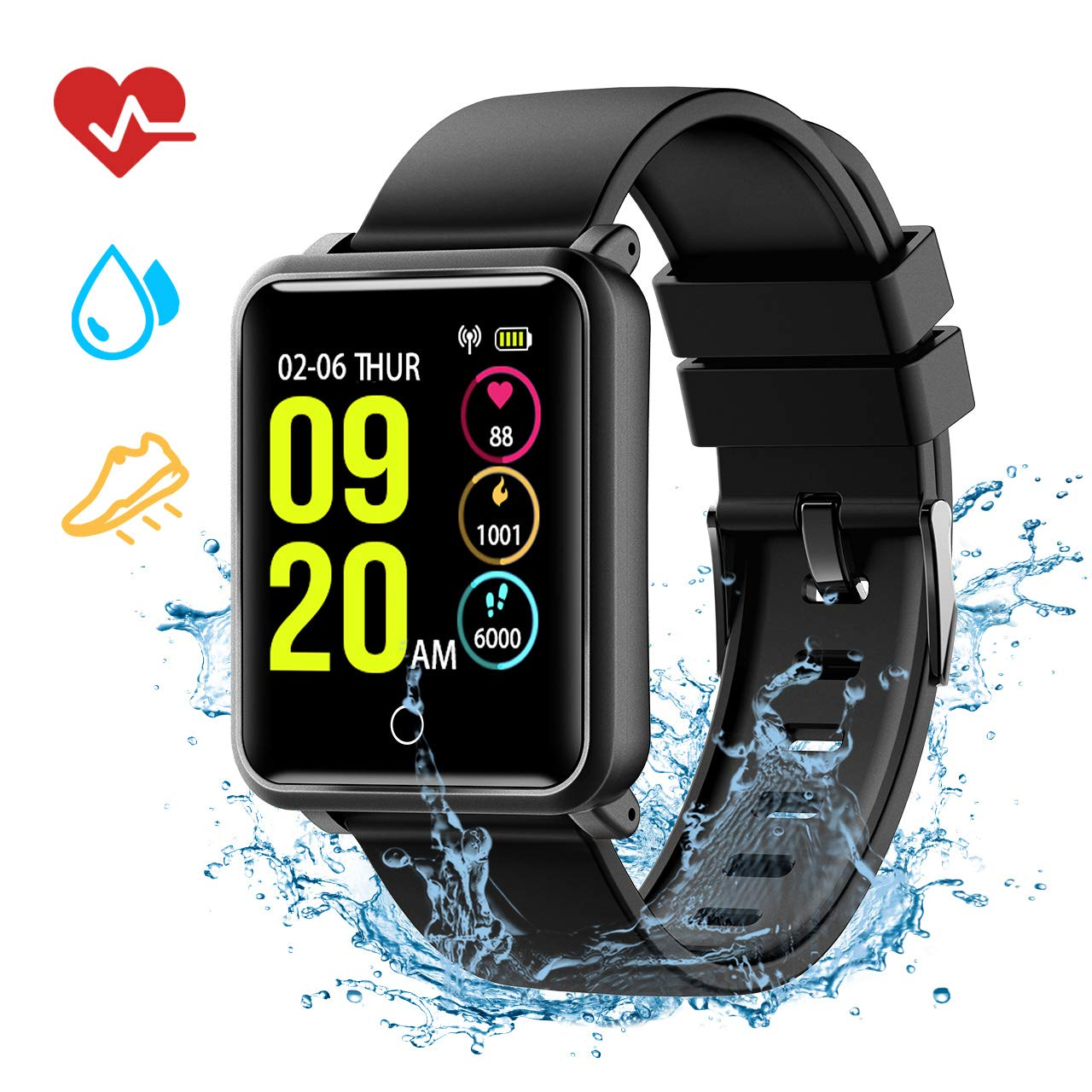 Amazon.com: Bluetooth Smart Watch for Android, TopElek IP68 ...