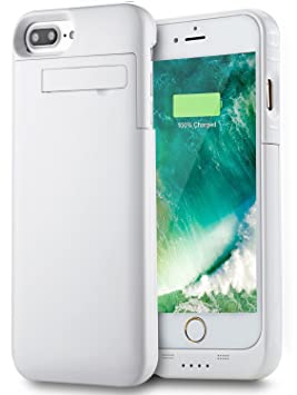 Funda Batería iPhone 8 Plus/ iPhone 7 Plus (5.5 Inch), PEMOTech Case Carcasa Con Batería Cargador-batería Externa Recargable 4000mAh Para iPhone 8 ...