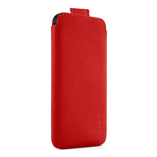 81 opinioni per Belkin F8W123VFC01 Leather Pocket- Custodia per iPhone 5/5S/SE, Rosso