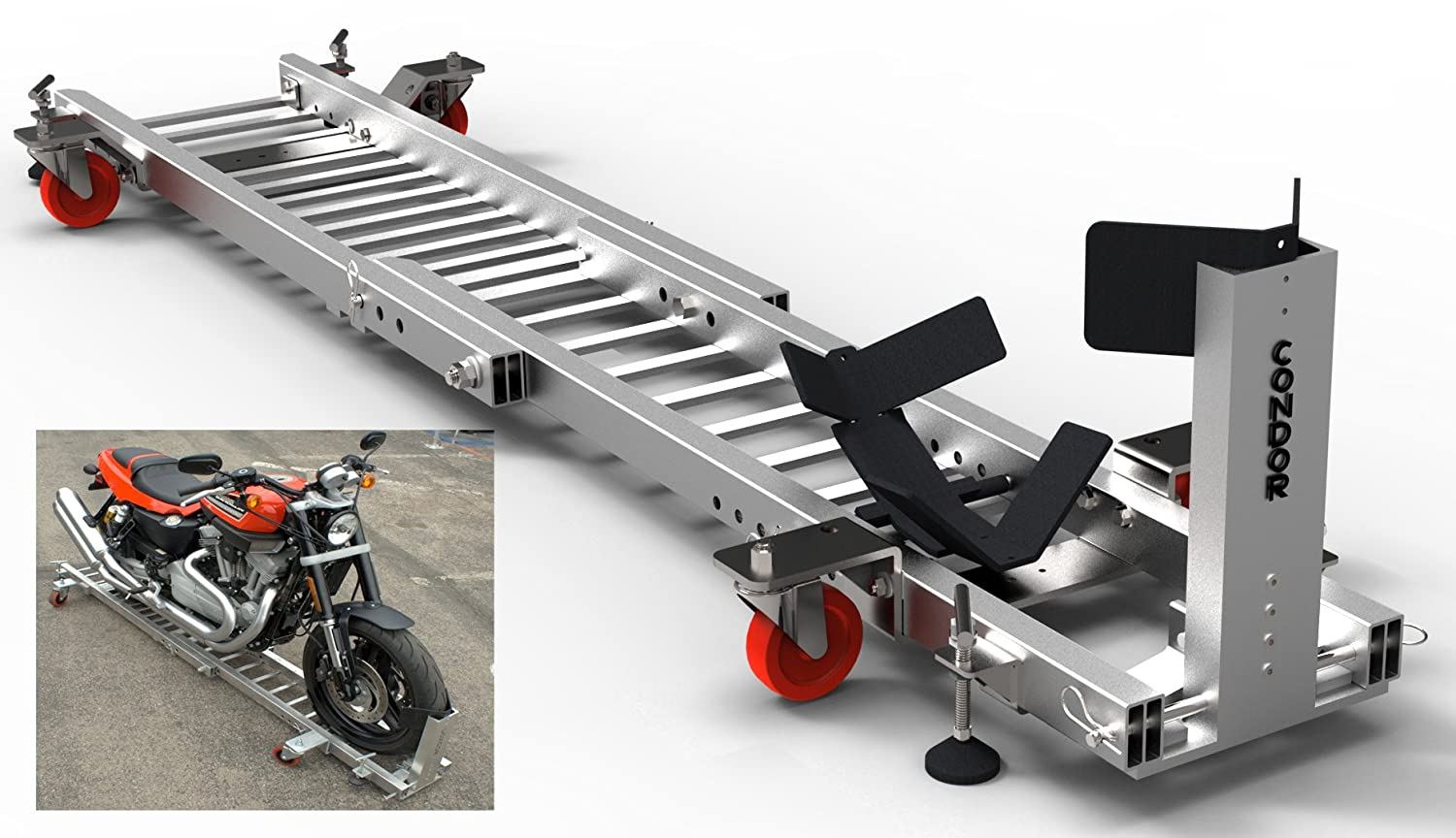 Trailer Stand Condor Motorcycle Garage Dolly for Wheel Chock