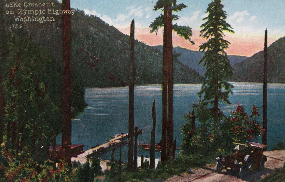 湖Crescent、ワシントン州 – 湖のビューからオリンピックHighway 36 x 54 Giclee Print LANT-20661-36x54 B01MG3JU84  36 x 54 Giclee Print