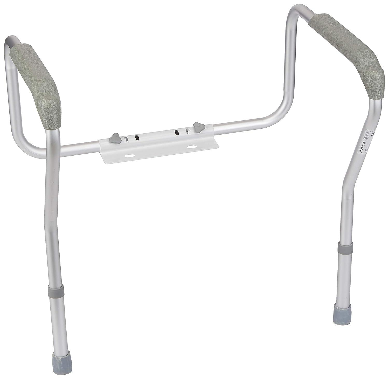 Homecraft Toilet Safety Frame, Bathroom Toilet Frame for Handicap or Disabled, Assistance Rails for Elderly, Adjustable Toilet Hand Rails for Support, Safety, and Comfort, Bathroom Grab Bar 081561901