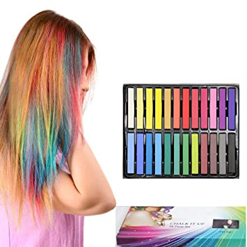 Amazon temporary hair chalk non toxic kids friendly temporary hair chalk non toxic kids friendly washable hair chalk for hair solutioingenieria Image collections