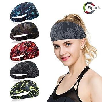 4745b4917d0a3d ECOMBOS Sport Stirnband für Frauen Lady - Headband Schweißband für Workout,  Jogging, Walking,