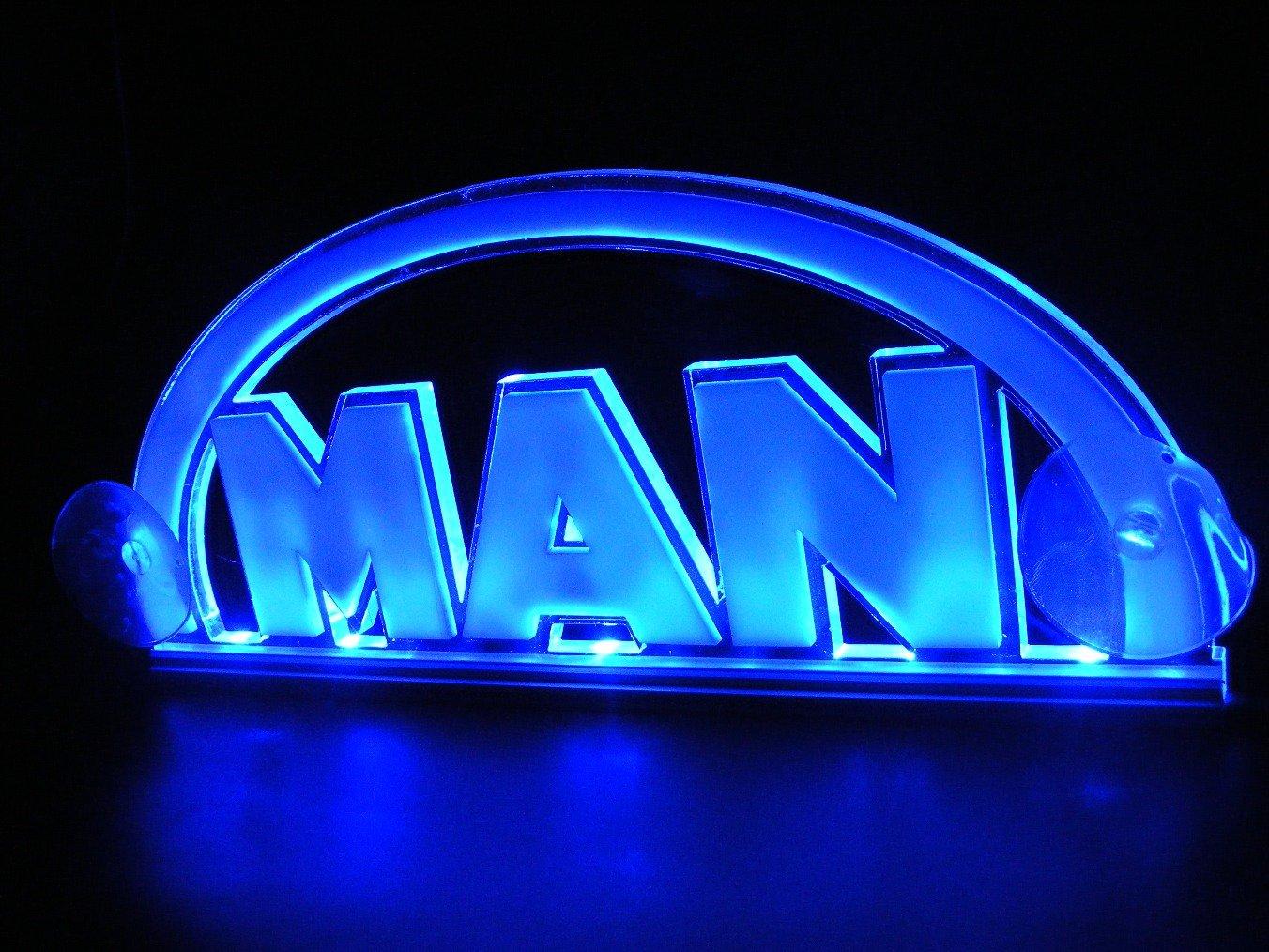 Azul 12 V LED cabina interior luz 3d placa para hombre camiones neó n iluminació n placa para mesa EL008