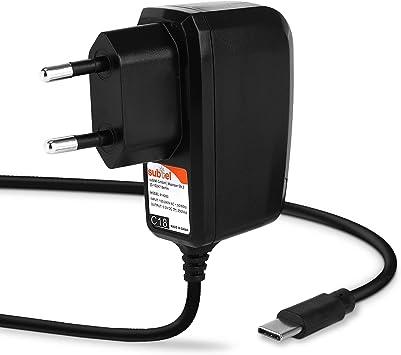 subtel® Cargador 1,2m, 2A / 2000mA Compatible con Nintendo Switch/Nintendo Switch Pro Controller, 5V USB C (Type C) Cable de Carga Negro: Amazon.es: Electrónica