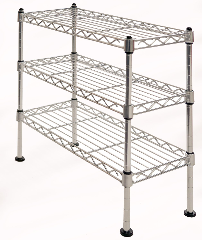 Seville Classics 3-Tier UltraZinc Cabinet Organizer, 7.5'' W x 17.5'' D x 18.5'' H