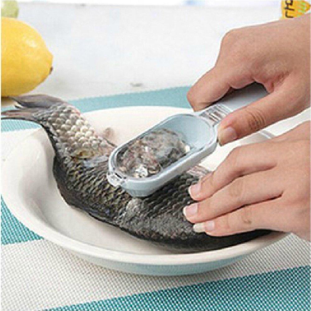 Dojore Yellow Plastic Fish Scales Remover - Clean Scaler Descaler Scraper Kitchen Tool CAMAC