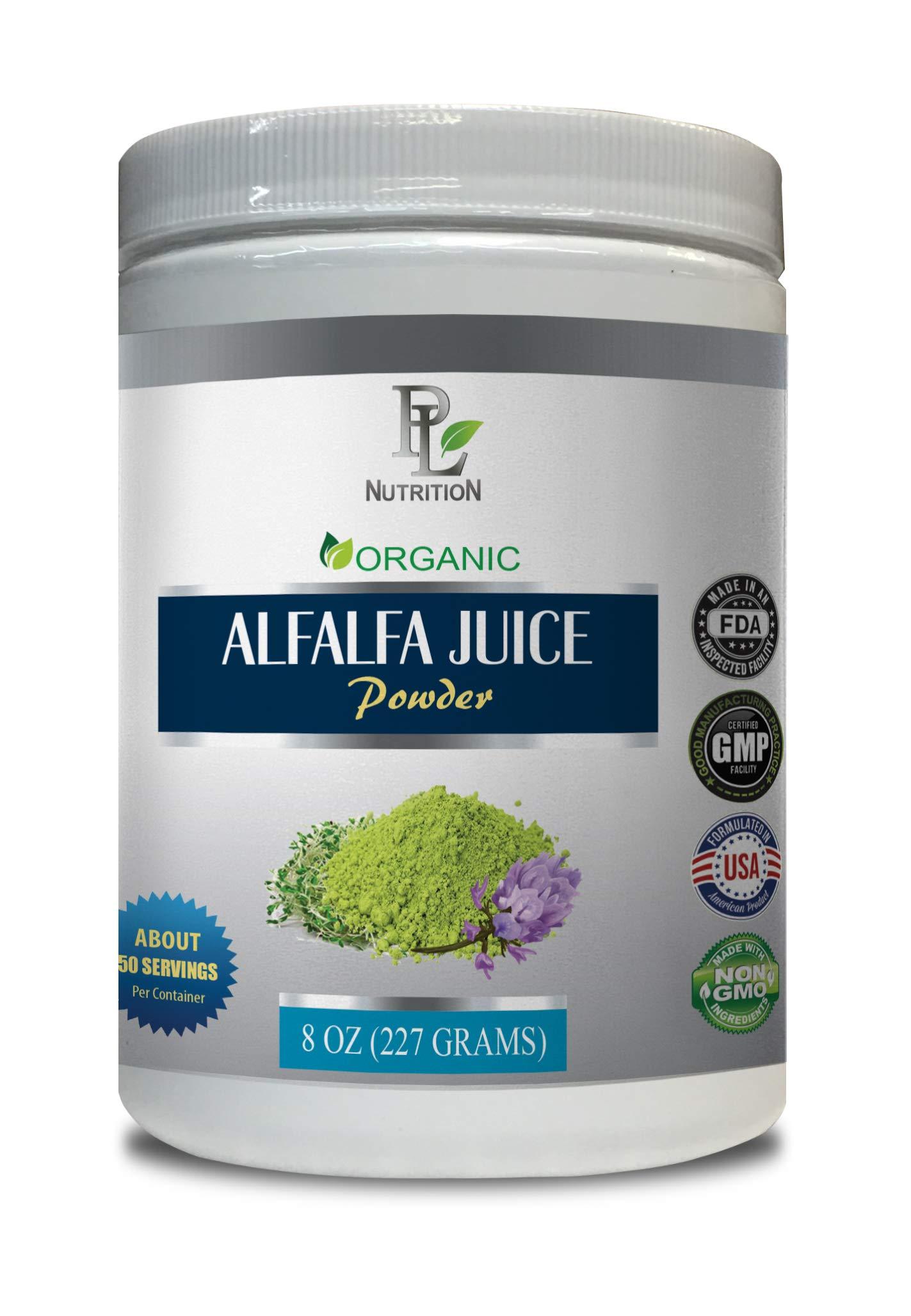 antioxidant Amazing Grass - Alfalfa Organic - Juice Powder - Alfalfa Juice Powder Organic - 1 Can 8 OZ (50 Servings)