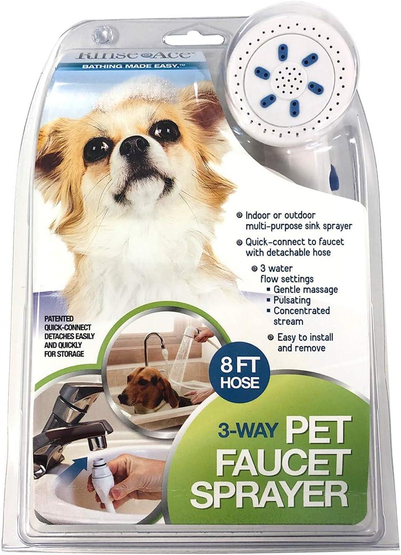 Danme Pet Shower Sprayer Slip on Hose Portable Shower Head Dog Sprayer for Tub Faucet