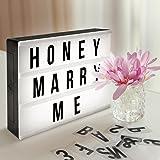 Led Box Lampada Decorativa con 90 Lettere Numeri e Simboli AGM Box Luminosi Decorazione Personalizzata per Feste Compleanno Anniversario Matrimonio