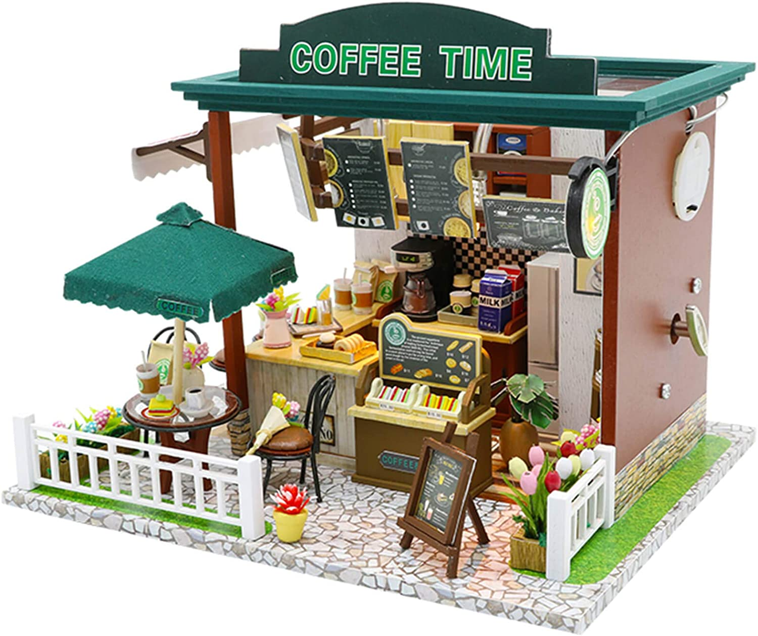 WADILE Dollhouses Wooden DIY Toys Kits Model Handmade Creative Gift Furniture Realistic and Suitable for Children Over 14 Years Old Or with The Help of Adults
