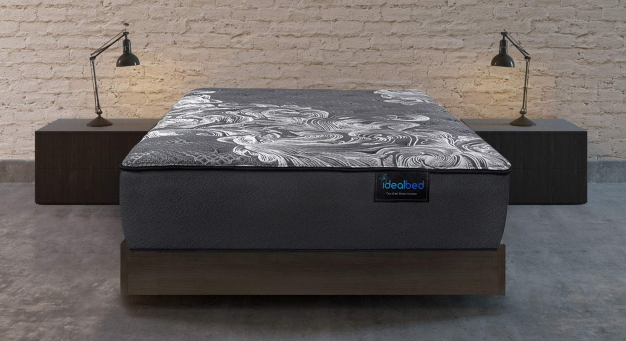 iDealBed Luxe Series iQ5 Hybrid Luxury Plush Mattress, Smart Adapt Hybrid Coil & Foam System Optimal Temperature Regulation, Pressure Relief Support, Made in USA, 10 Year Warranty (Queen) by iDealBed