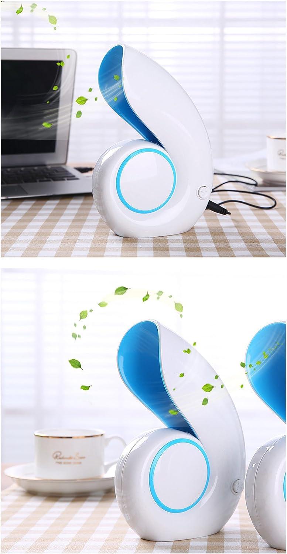 Creative Conch Turbine USB Leafless Fan Mini Portable Silent Home Office Desktop Fan Gift Green