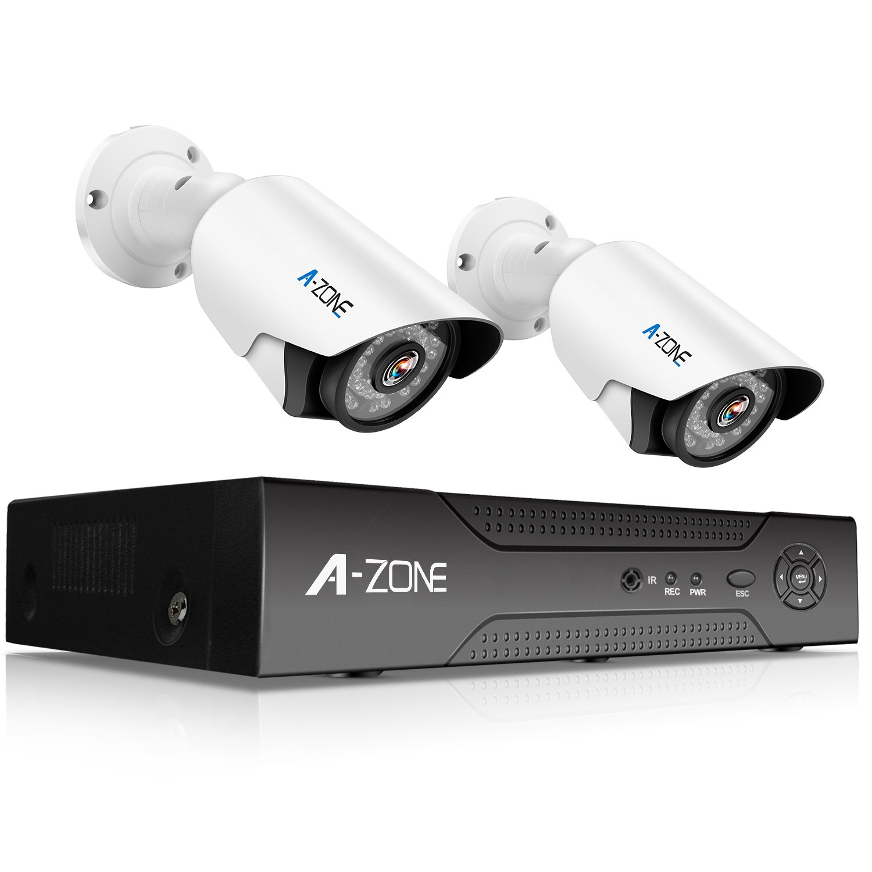 A-ZONE 500万画素タイプ 防犯カメラキット 4CHレコーダー&2台カメラフルハイビジョン 防水IP67 暗視撮影 ナイトビジョン監視カメラiPhone Android スマホ PC 遠隔監視 対応 (2TBHDD付き) (AZ-SA5MP420-N2) B077KWYZZJ AZ-SA5MP420-N2 AZ-SA5MP420-N2